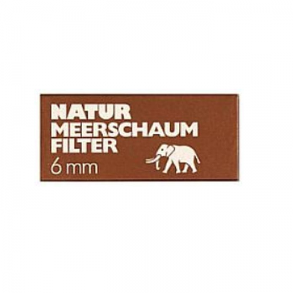 WHITE ELEPHANT Natur - Meerschaumfiler 6mm 45er Box