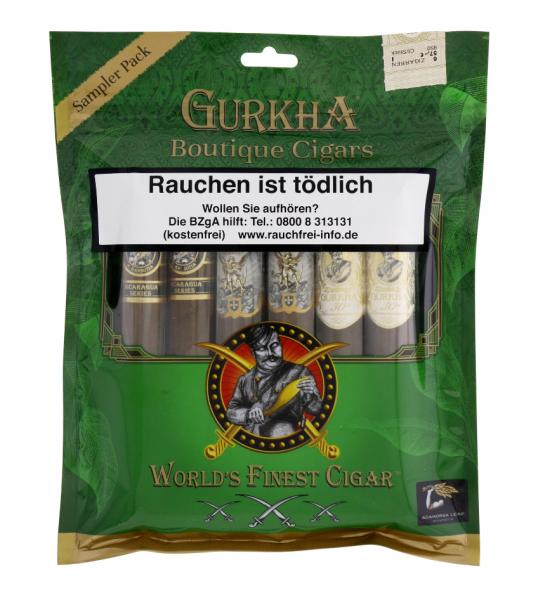 GURKHA BOUTIQUE CIGARS SAMPLER PACK