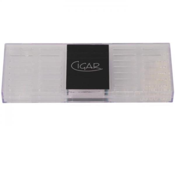 CIGAR - BEFEUCHTER transparent, eckig, groß #595531
