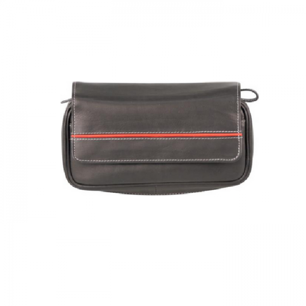 Pfeifentasche Leder schwarz antik # 632564