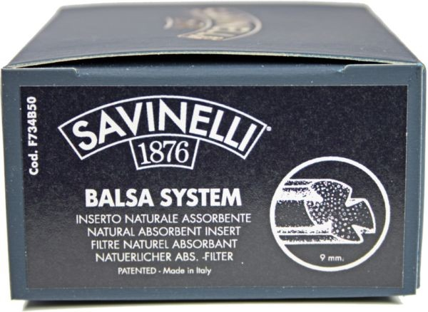 SAVINELLI Balsa System-Filter 9mm 50er Box