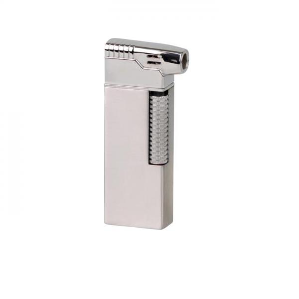 PASSATORE Pfeifenfeuerzeug mit integriertem Pfeifenbesteck Chrom satiniert #234011