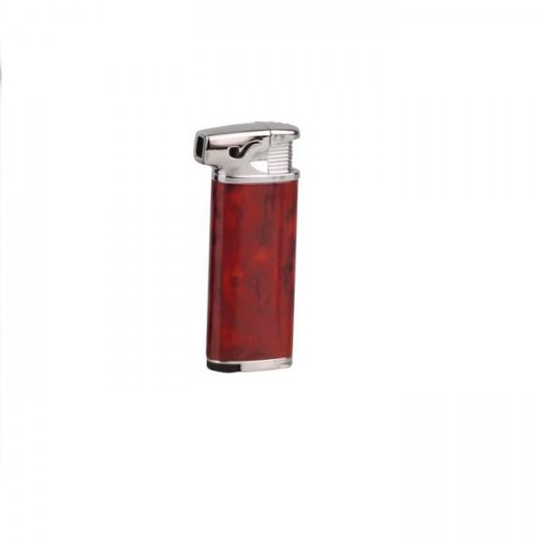 SKY Pfeifenfeuerzeug Ingo mit Stopfer rotbraun #239904s