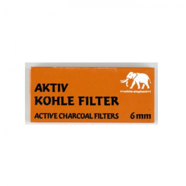 WHITE ELEPHANT Aktivkohlefilter 6mm 45er Box