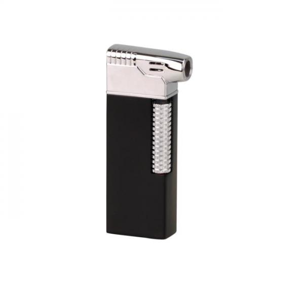 PASSATORE Pfeifenfeuerzeug mit integriertem Pfeifenbesteck schwarz/verchromt #234012