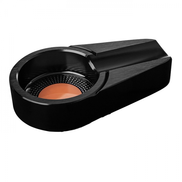 ANGELO CIGARREN-ASCHER Metall schwarz oval #421080