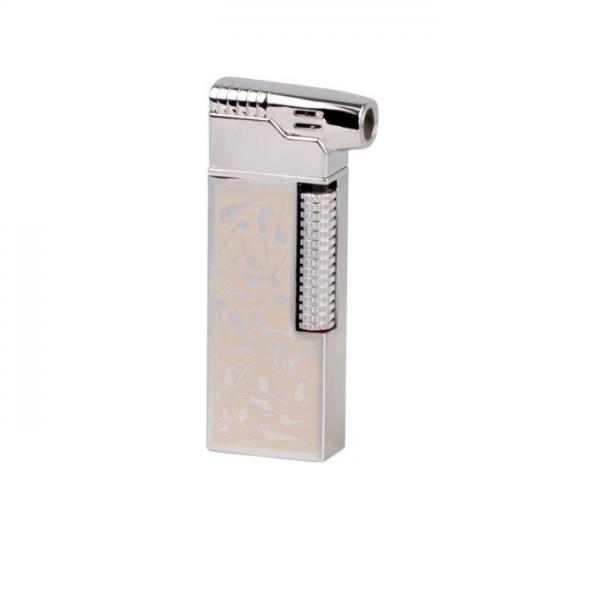 PASSATORE Pfeifenfeuerzeug mit integriertem Pfeifenbesteck Chrom Pfeifenmotiv #234014