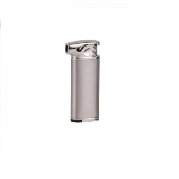 SKY Pfeifenfeuerzeug Ingo mit Stopfer silberfarben #239904s