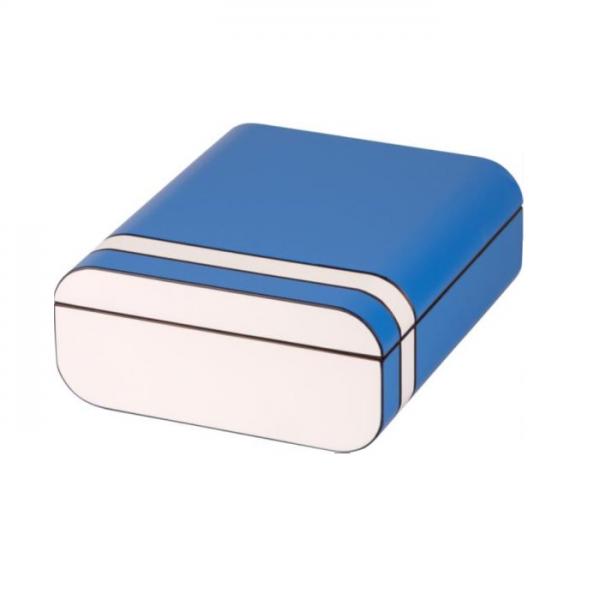 PASSATORE HUMIDOR blau-weiß matt #561461