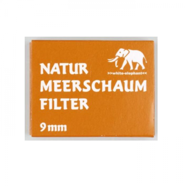 WHITE ELEPHANT Natur - Meerschaumfilter 9mm 40er Box