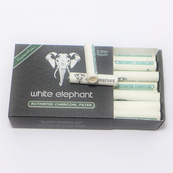 WHITE ELEPHANT Aktivkohlefilter 9mm 40er Box