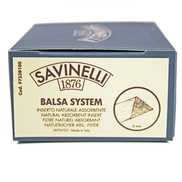 SAVINELLI Balsa System-Filter 6mm 100er Box