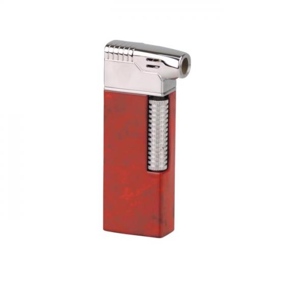 PASSATORE Pfeifenfeuerzeug mit integriertem Pfeifenbesteck braun marmoriert / Chrom #234013